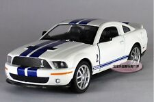 White 1:38 1/38 2007 MUSTANG Ford Shelby GT500 Sport Car Diecast model Kinsmart