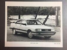 1989 Audi 200 Sedan B&W Press Photo, Foto RARE!! Awesome L@@K