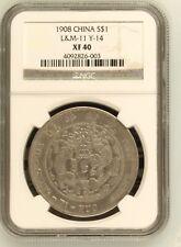 1908 China Empire Silver Dollar Dragon Coin NGC L&M-11 Y-14 XF 40
