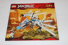 Lego Ninjago 2260 Ice Dragon Attack Instruction Book ONLY NO BRICKS