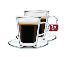Thermo Espresso Gläser Set 8 teilig Doppelwandig  100 ml Schwebe-Effekt