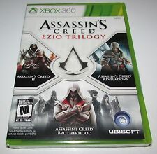 Assassin's Creed Ezio Trilogy for Xbox 360 Brand New! Factory Sealed!