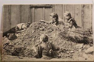 Scenic Children Playing Girls Postcard Old Vintage Card View Standard Souvenir