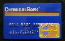 Chemical Bank MasterCard exp 1992♡Free Shipping♡ cc1219