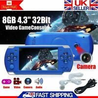 "32bit 8GB 4.3"" Handheld PSP Game Console Player Portable Video Game Consoles UK"