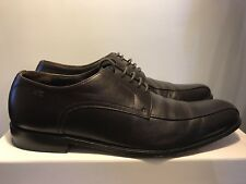 Hugo Boss Men's Leather Derby Lace-up Oxford Dress Shoes Dark Brown Size 9/42 EU
