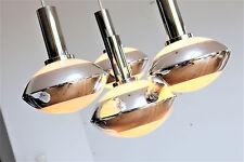60er 70er lámpara lamp kaskadenlampe cromo vidrio Panton era