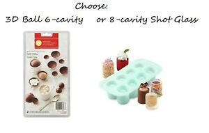 Wilton Shot Glass OR 3D Ball Silicone Mold Holiday Treats Cookies Desserts