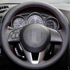 Leather Steering Wheel Cover Non-Slip For Mazda 3 6 M6 CX-3 CX-5 2013 2015 2016