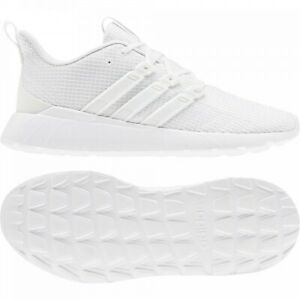 adidas Questar Flow Mens White Trainers Cloudfoam Sports Training Running Shoes