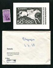BRD FOTO-ESSAY 563 OLYMPIA 1968 COUBERTIN PFERD HORSE OLYMPICS PROOF RARE e163