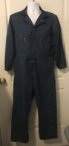 Men's Dickies Navy Blue Long Sleeve Coveralls/Jumpsuit - Size 40 Short