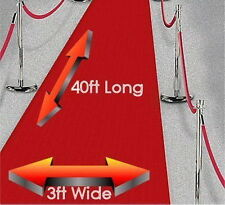 Grandi 40ft Red Carpet Hollywood Party Decorazione-WEDDING Pavimento Corridoio Runner