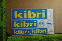 Alter Aufkleber Modellbau Spielwaren KIBRI