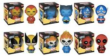 MARVEL DORBZ SET OF 6 Wave 1 Ghost Rider Iron Man Beast Wolverine Deadpool & Cap