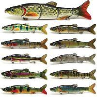 "6.5"" Multi Jointed Fishing Lure Bait Swimbait Life-like Pike Musky Killer NEW"