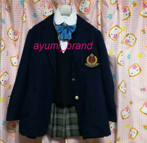 U36 ^_^ Japanese SchoolGirl Uniform Blazer Set. ColmeMentes School. L/Edition
