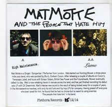 (GF99) Matmotte And The People That Hate Him, High Maintenance - 2014 DJ CD