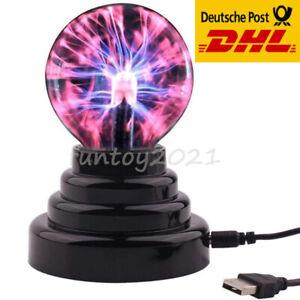 Plasmakugel Magische Blitze Lichteffekt Plasmaball Lampe Leuchten Party Deko