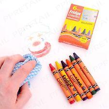 6x EASY CLEAN Colour Crayon Set WASHABLE + NON TOXIC Fridge/School/Kids/Children