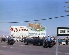 President John F. Kennedy rides in motorcade in Las Vegas Nevada New 8x10 Photo