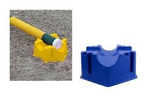 Stangenblock, Hindernisblock, Springblock, Trainingshilfe, 2 Stück, gelb, blau