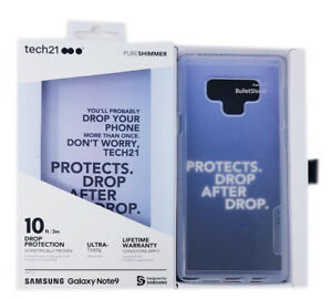 OEM Clear Ultra Thin Tech21 Pureshimmer Series Case For Samsung Galaxy Note 9