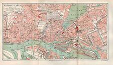 Landkarte city map 1906: Stadtplan HAMBURG-ALTONA. Hansestadt Germany