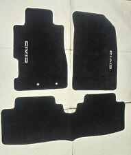 Fit 01-05 HONDA CIVIC Black Nylon Floor Mats Carpet W/ Emblem