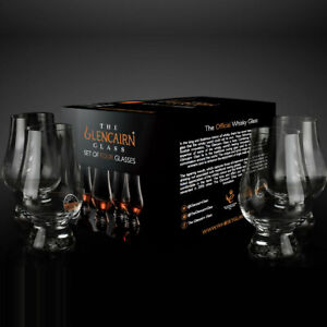 The Glencairn Official Whisky Nosing Glass - Set of 4 (Printed Gift Carton)