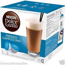 Dolce gusto frédo cappuccino café dosettes 16 loose 8 portions fait froid au royaume-uni maintenant