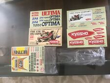 Vintage 1986 Original Kyosho ULTIMA  Complete Buggy Body Wing & Decal Set NEW