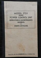 1942 WWII LeTORNEAU FTD7 POWER CONTROL CATERPILLAR D4 D6 D7 D8 TRACTOR MANUAL