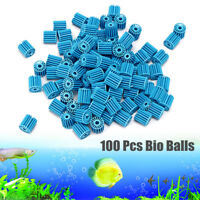 100Pcs Bag Aquarium Pond Bio Ball Canister Clean Water Fish Tank Filter Media K