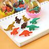 8x Mini Dinosaur Eggs Pencil Rubber Erasers Students T Kids Gift Stationery X4L3