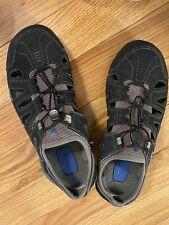 Teva Water Shoes Mens 10 Black Grey Mesh Beach Camping Hiking