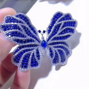 Luxury! Butterfly Brooch, Cubic Zirconia Brooch, Brooches Silver
