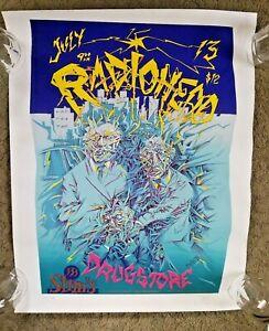 RARE! 1995 John Seabury Radiohead Silkscreen Poster #255/300 San Francisco Show