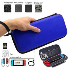 Blue Slim Armor EVA Hard Travel Case Cover Carrying Tough For Nintendo Switch