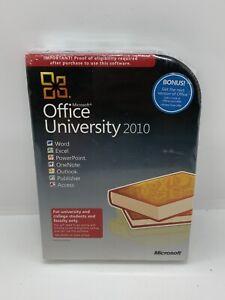 Microsoft Office University 2010 U6L-00003 BRAND NEW SEALED NEVER USED!