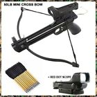 MINI 50 LB ARCHERY HUNTING Gun PISTOL CROSSBOW W/ 15 BOLTS ARROWS XBOW w SCOPE