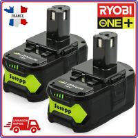 Lot 2 Batterie Ryobi One+ Plus 18V 4Ah Perf RB18L25 RB18 L50 P108 P107 P104 P780
