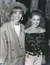 DEBBIE GIBSON W/ ALYSSA MILANO  - ORIGINAL CANDID PHOTO - 1988