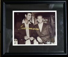 TED WILLIAMS SIGNED PHOTO W/MICKEY MANTLE AUTO AUTOGRAPH DISPLAY GREEN DIAMOND
