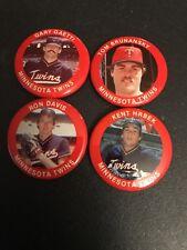 VINTAGE 1984 FUN FOODS Minnesota Twins PIN BUTTON Team Set Hrbek Gaetti