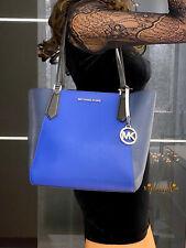 Michael Kors Kimberly Small Bonded Leather Tote Bag Cobalt Multi
