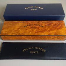 FRANCK MULLER scatola di presentazione in legno Vintage Orologio non utilizzato