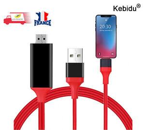 1080P 1,8M Lightning vers HDMI TV AV Câble Pour iPhone 6 6S 7 8 Plus X , IOS