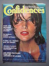 ►CONFIDENCES N°1597-1978 - ROMAN COMPLET - PABLO PICASSO & FRANCOISE GILOT