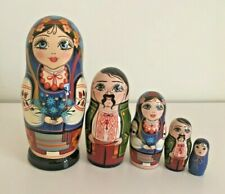 5 MATRYOSHKA NESTING/STACKING/DOLLS/BABUSHKA/UKRAINIAN GIRL/COSSACK/14.5cm